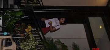 Mumbai: Actress Rakul Preet Singh seen outside actor Sushant Singh Rajput's house at Bandra in Mumbai, on July 11, 2019. (Photo: IANS)