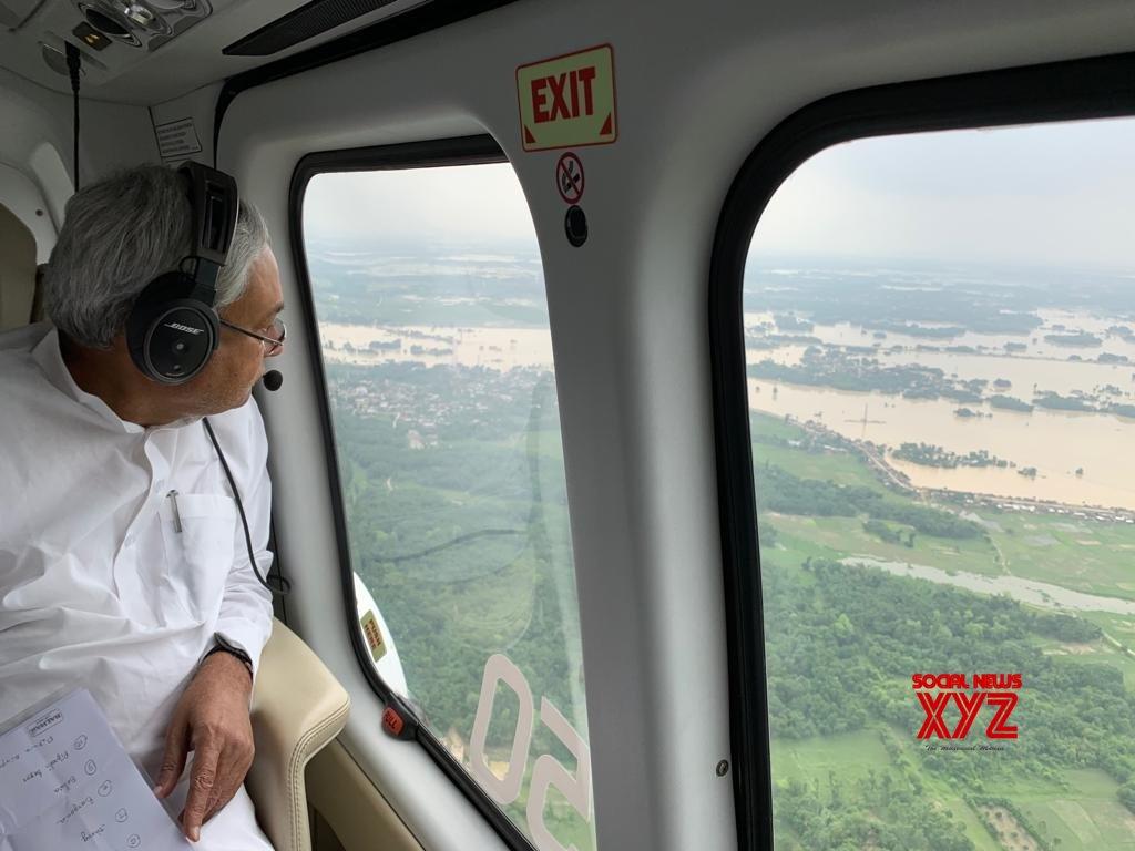 Bihar: Nitish Kumar conducts aerial survey #Gallery
