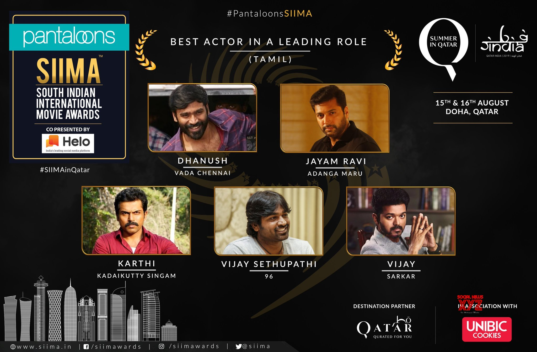 SIIMA 2019 Nominations For The Best Actor In A Leading Role