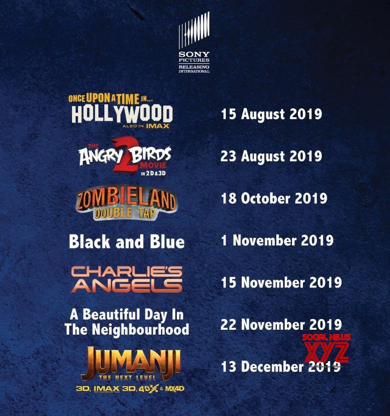 Sony Pictures India Movies Release Dates For Rest Of 2019