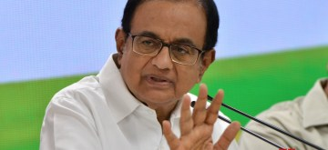 New Delhi: Congress leader P. Chidambaram addresses a press conference at the party's headquarters in New Delhi on July 5, 2019. (Photo: IANS)