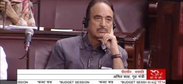 New Delhi: Congress MP Ghulam Nabi Azad in Rajya Sabha on Aug 5, 2019. (Photo: IANS/RSTV)