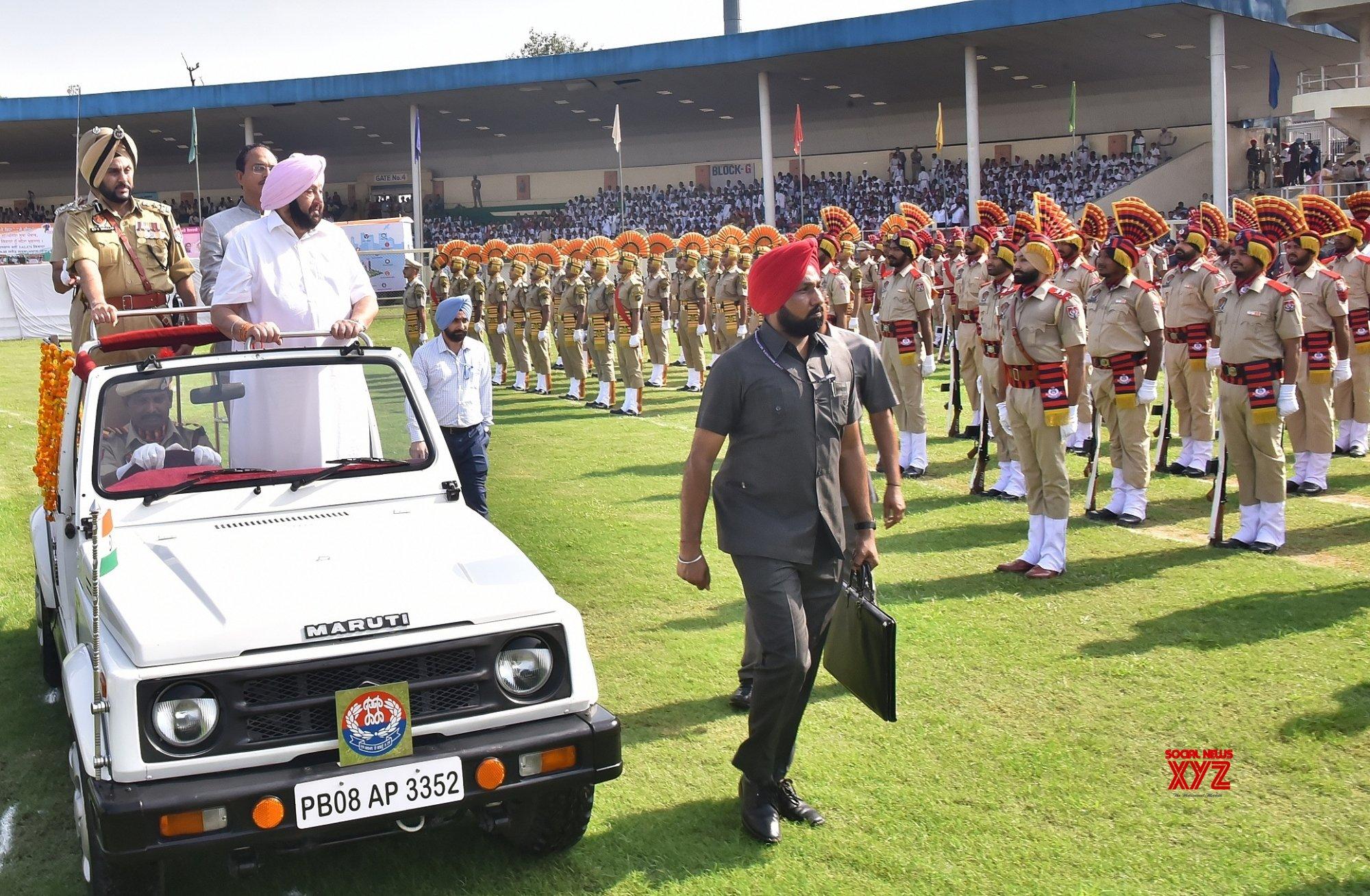 Jalandhar: Amarinder Singh during 73rd Independence Day celebrations in Punjab #Gallery