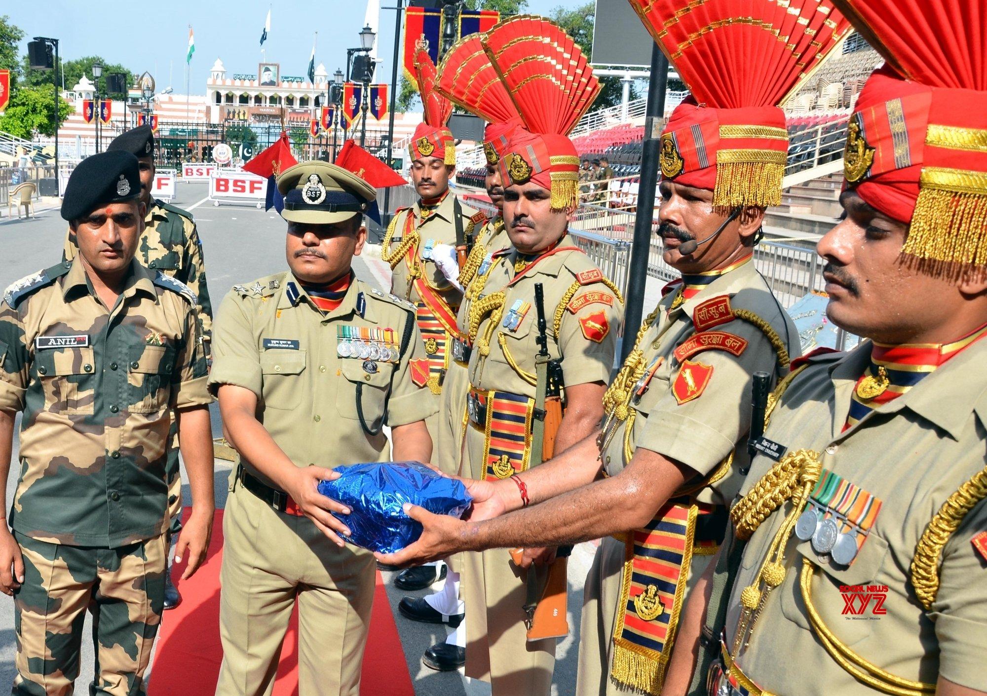 Attari (Punjab): BSF celebrates 73rd Independence Day at Attari - Wagah border #Gallery