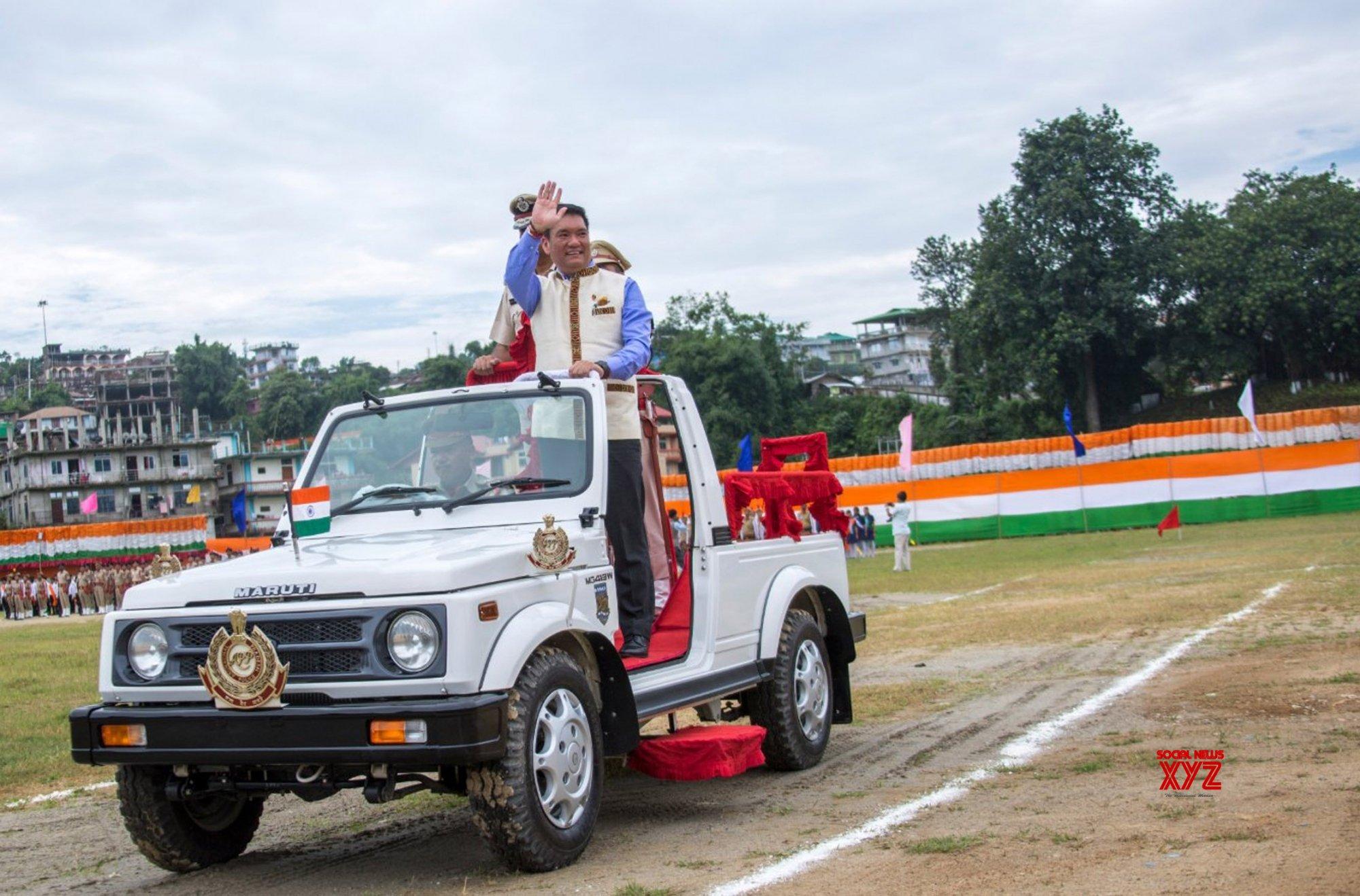 Itanagar: Pema Khandu during 73rd Independence Day celebrations in Arunachal Pradesh #Gallery