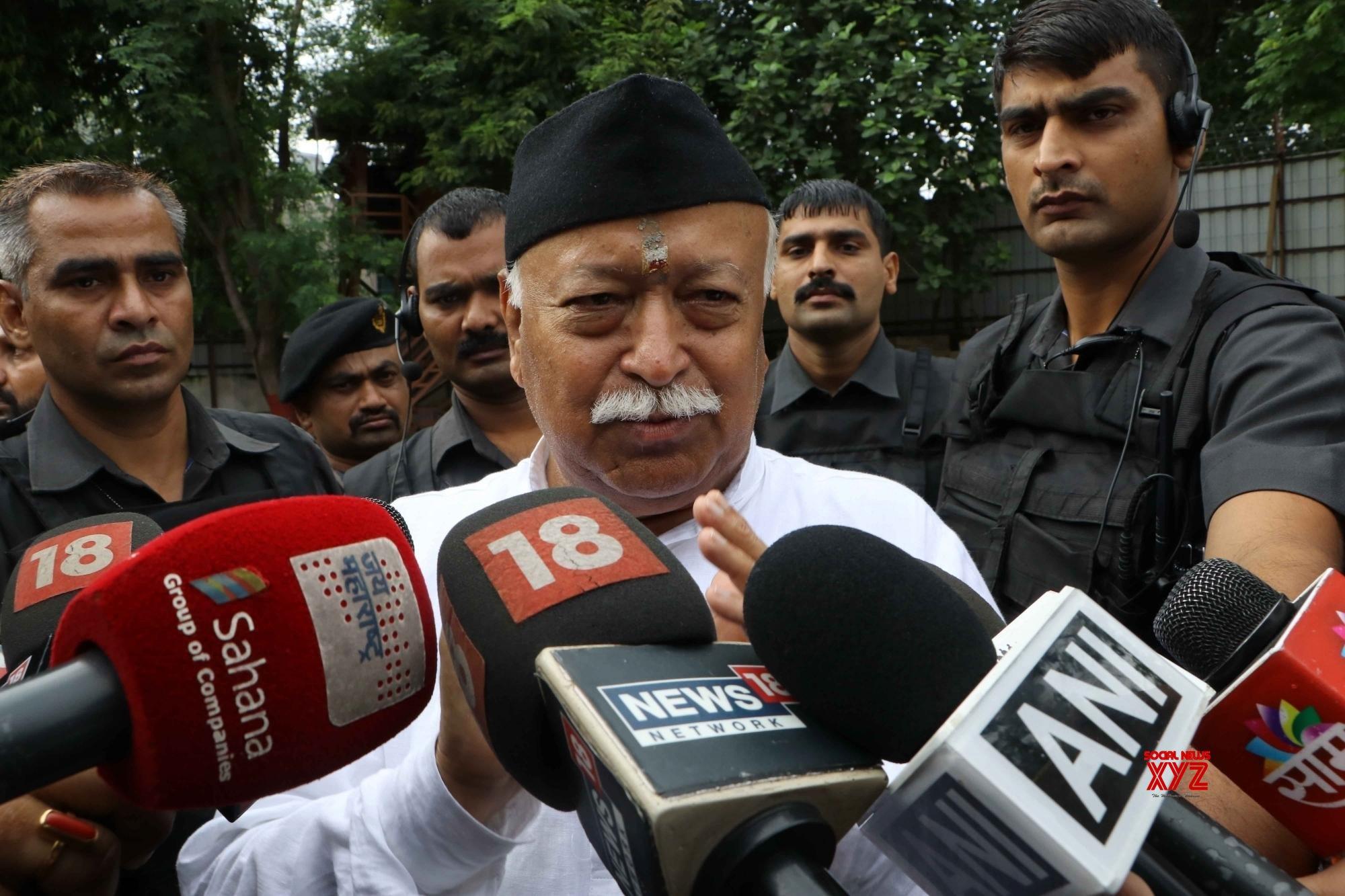 Nagpur: Mohan Bhagwat talks to press #Gallery