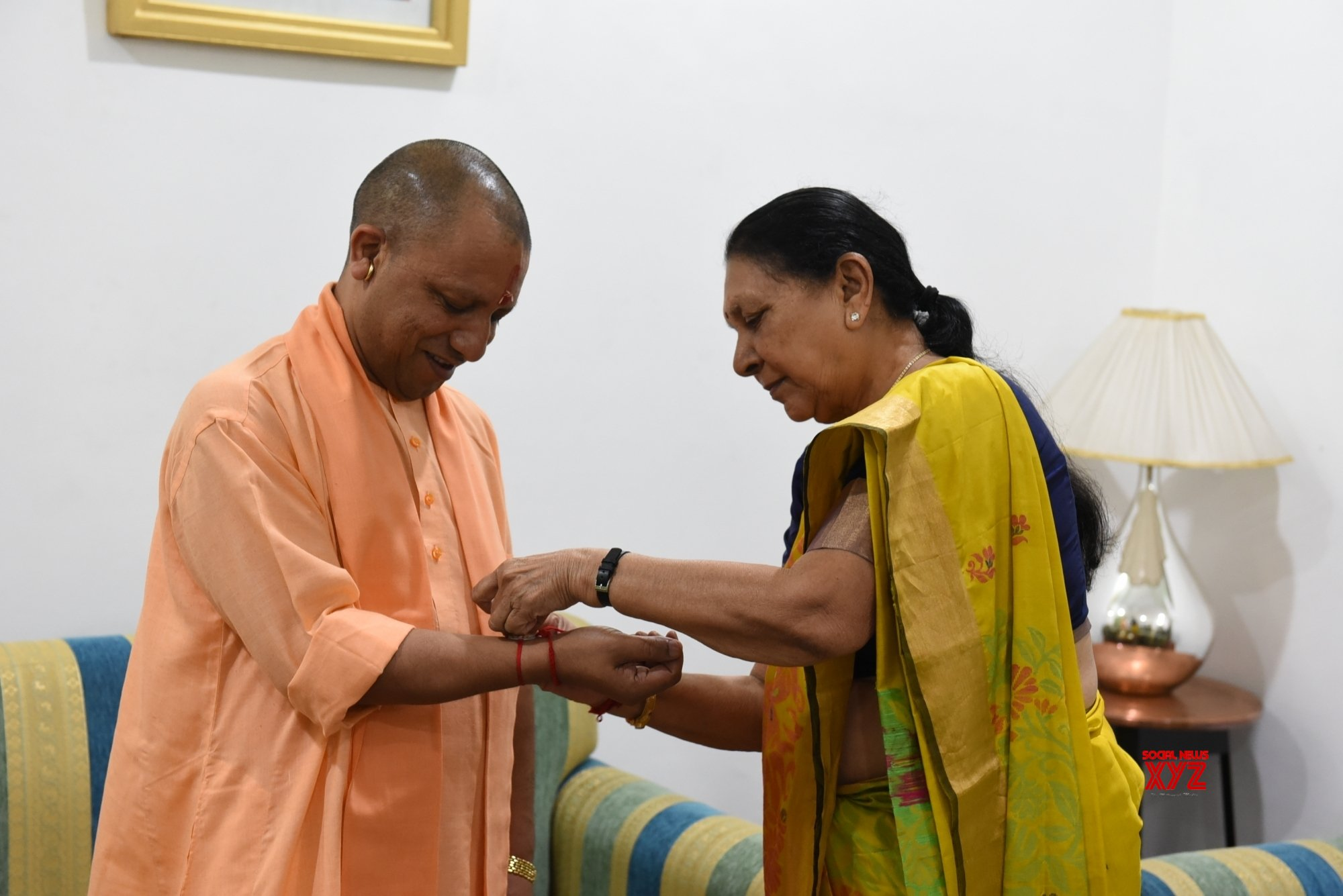 Lucknow: UP Governor celebrates Raksha Bandhan with CM #Gallery