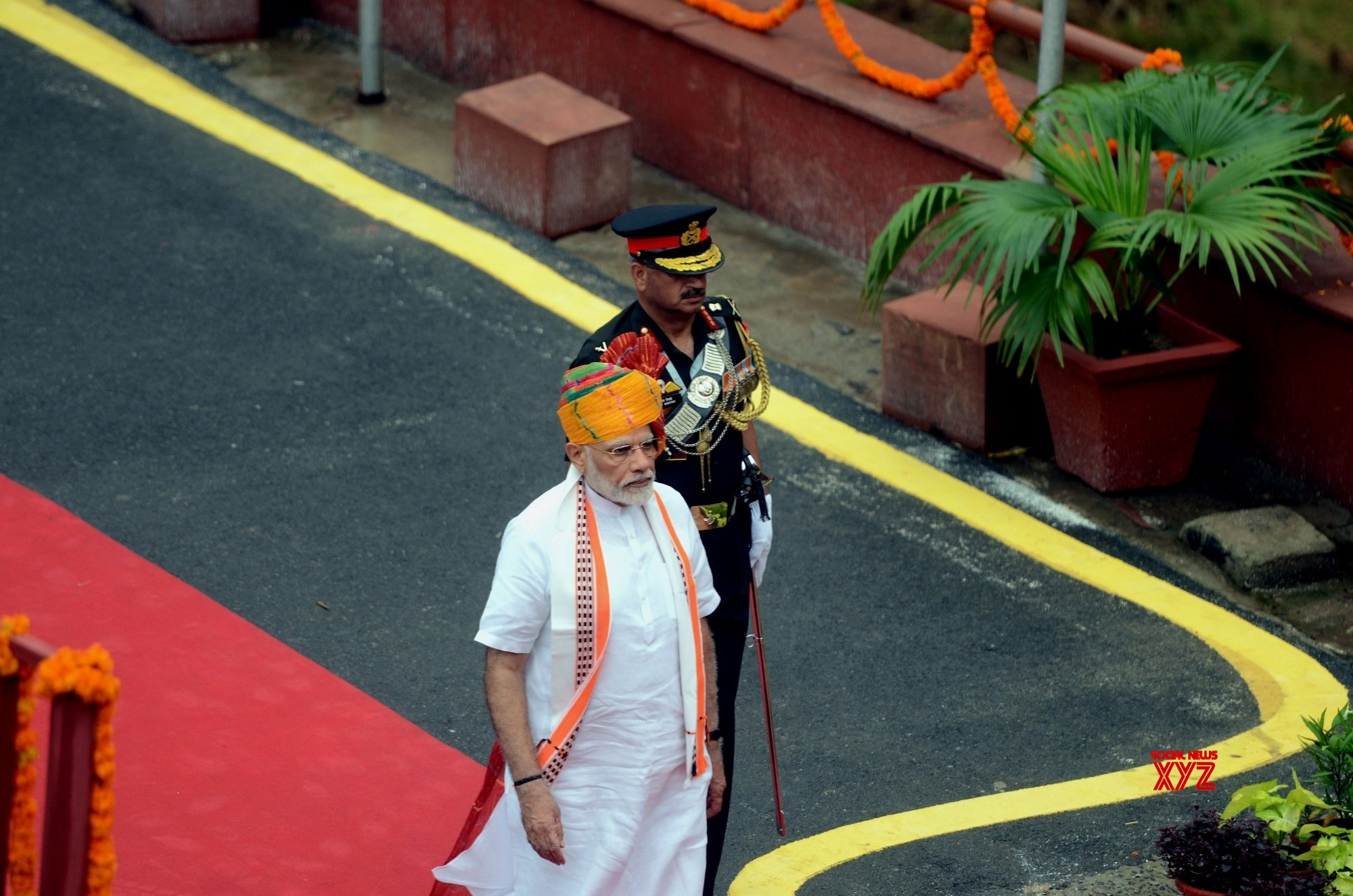 New Delhi: PM Modi during 73rd Independence Day celebrations at Red Fort #Gallery