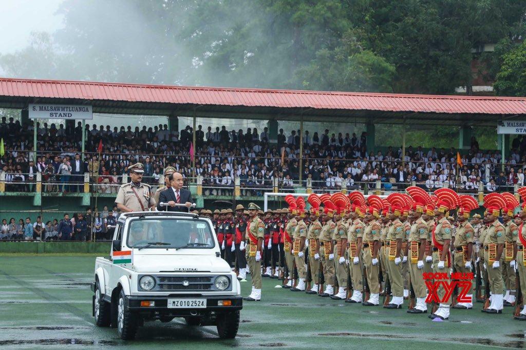 Aizawl: Zoramthanga during 73rd Independence Day celebrations in Mizoram #Gallery
