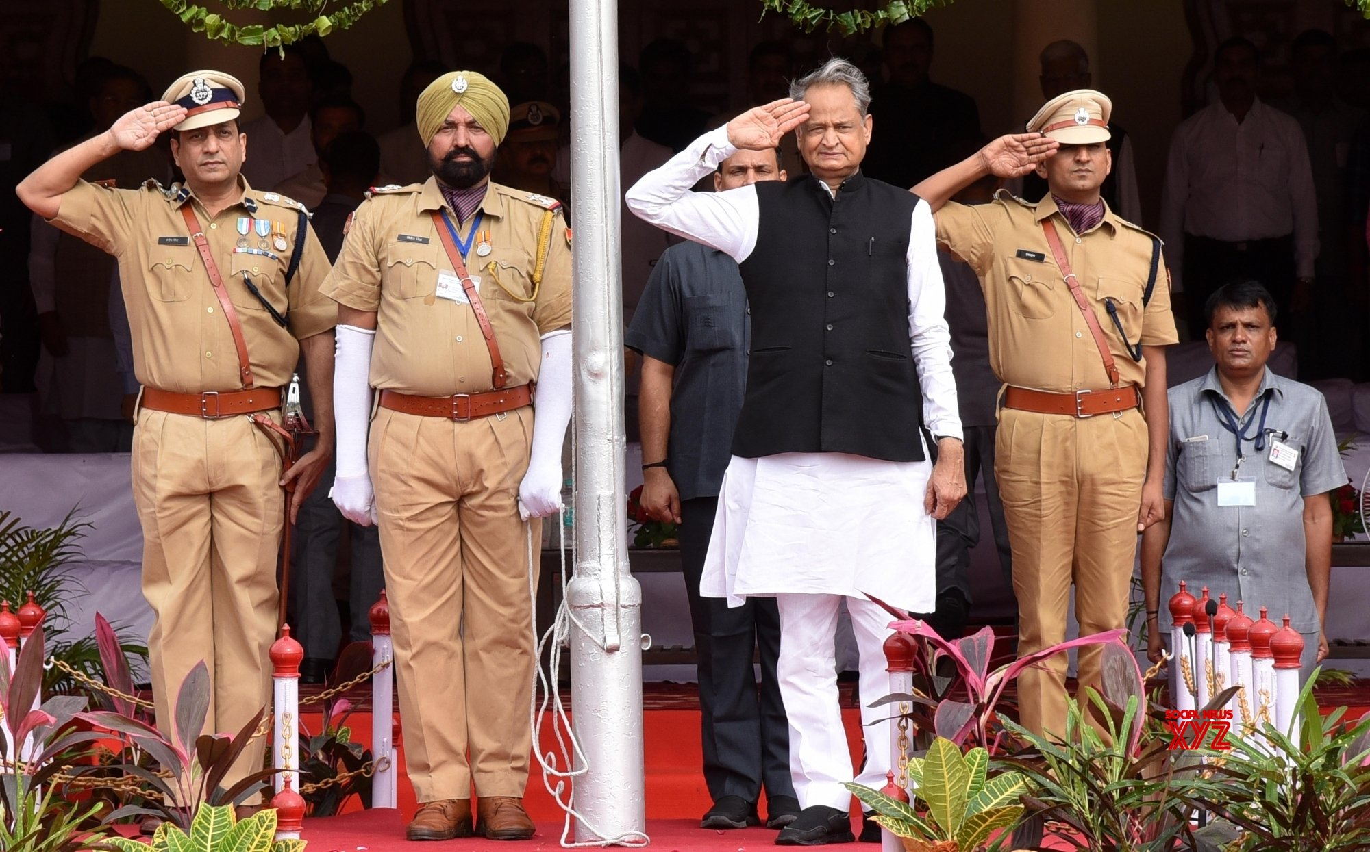 Rajasthan CM hits out at Modi govt in his I-Day speech