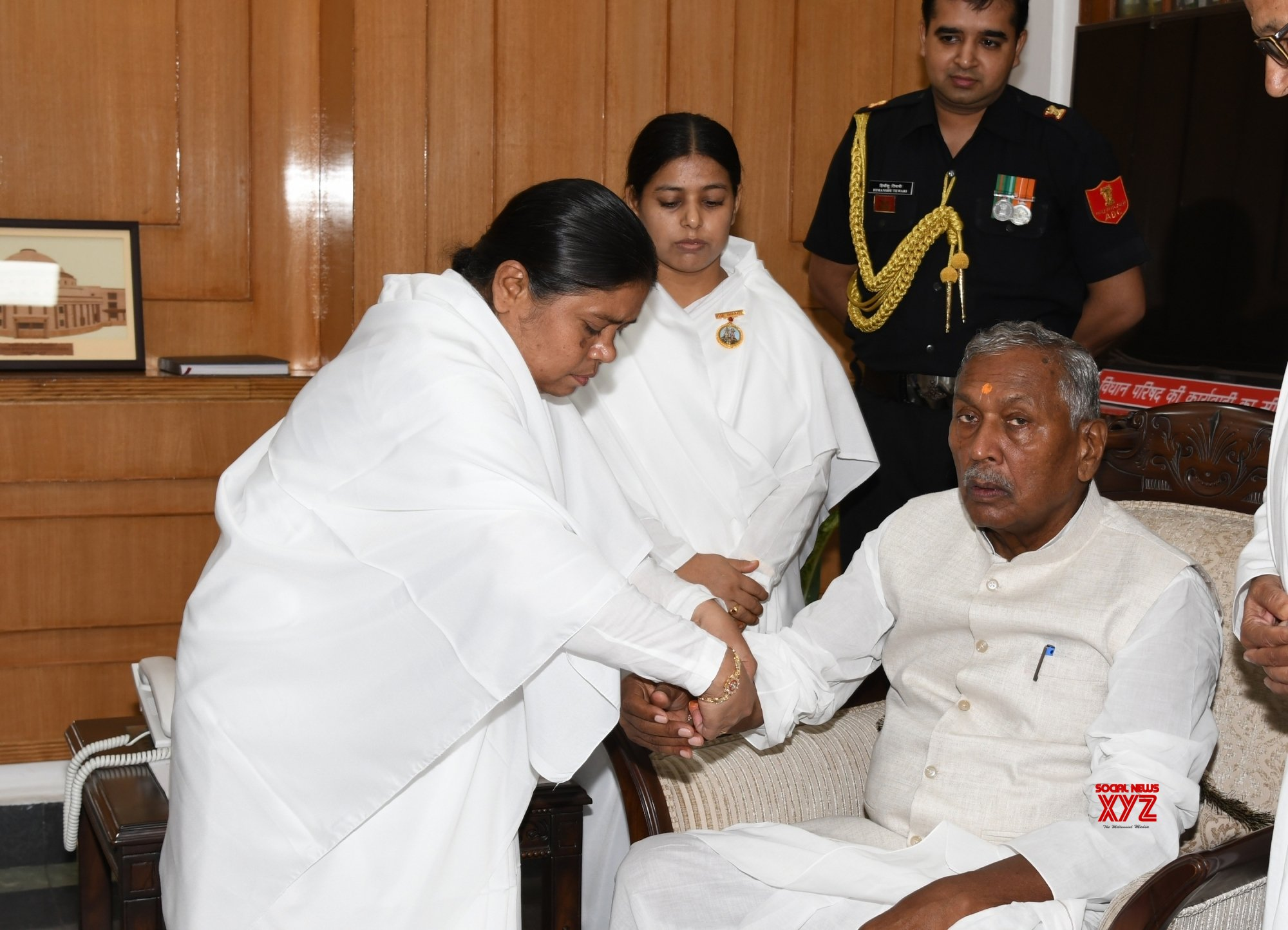 Patna: Bihar Governor during Raksha Bandhan celebrations #Gallery