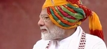 New Delhi: Prime Minister Narendra Modi addresses the Nation on the 73rd Independence Day from the ramparts of Red Fort, in New Delhi on Aug 15, 2019. (Photo: IANS/LSTV)