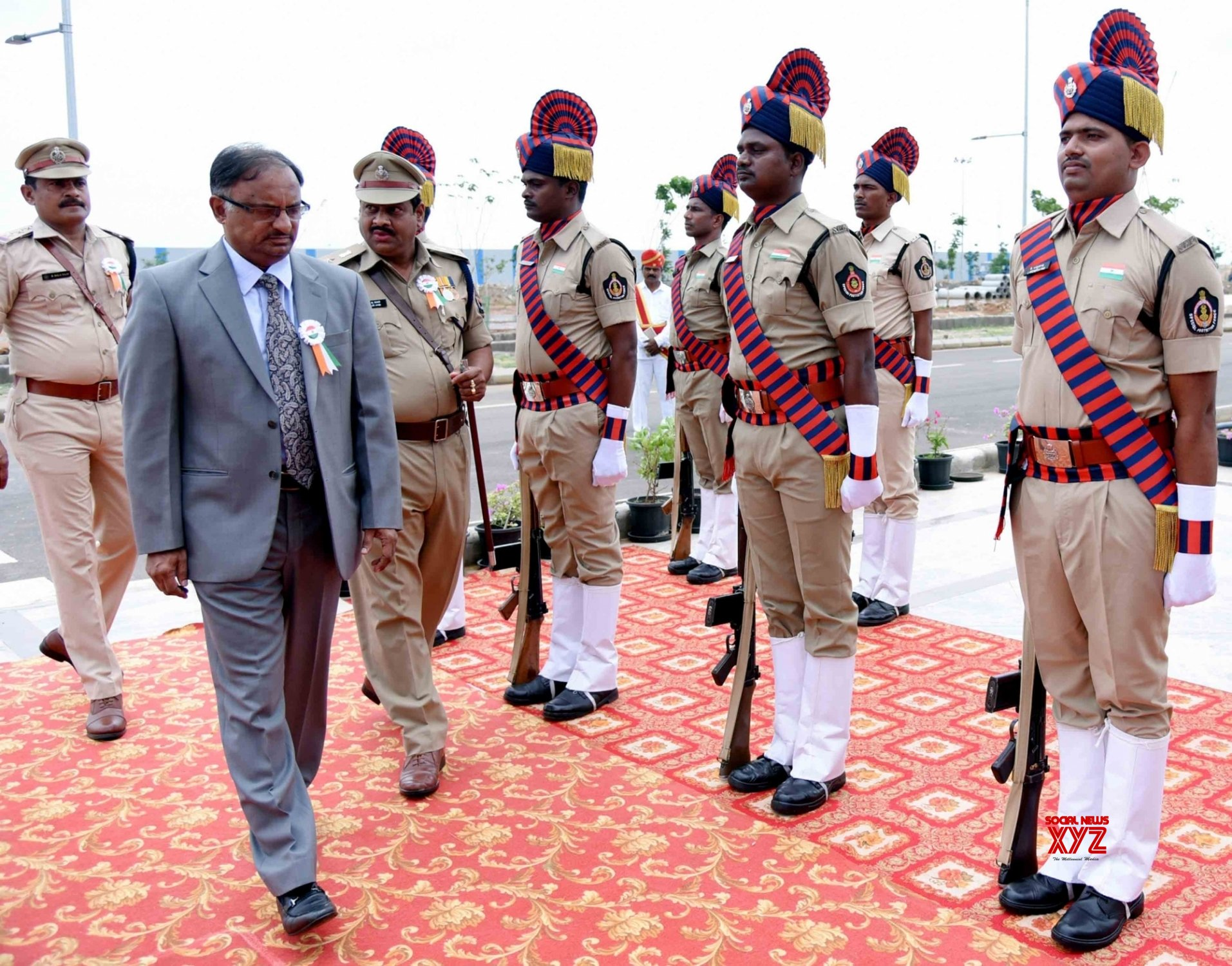 Amaravati: Justice C. Praveen Kumar hoists Tricolor at Andhra Pradesh High Court on 73rd Independence Day #Gallery
