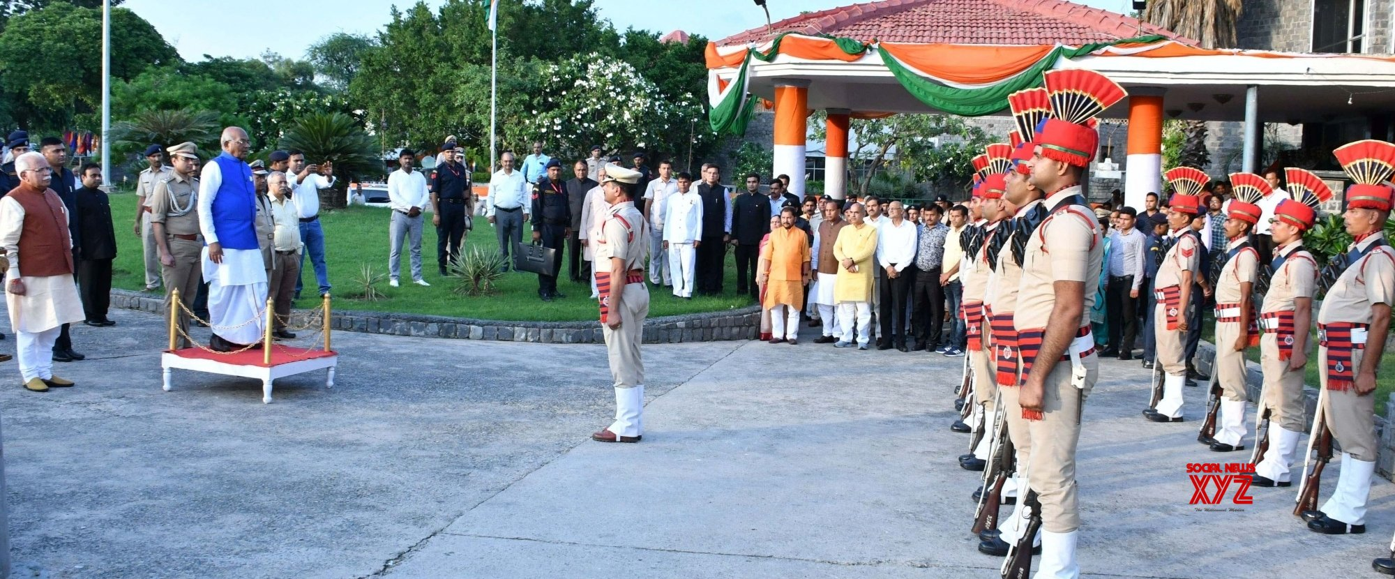 Faridabad: Haryana Governor hosts 'At Home' on 73rd Independence Day #Gallery