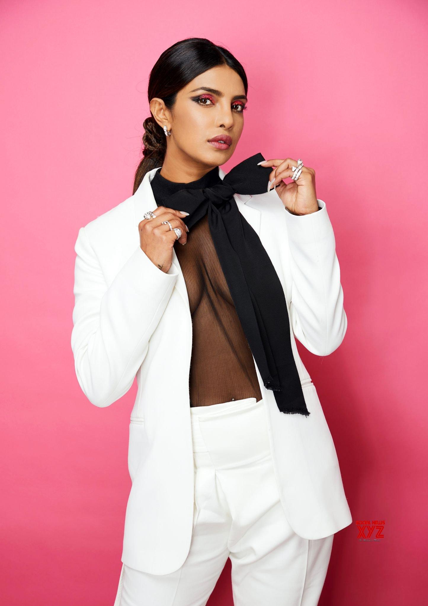 Actress Priyanka Chopra Sexy Pant Suit Stills
