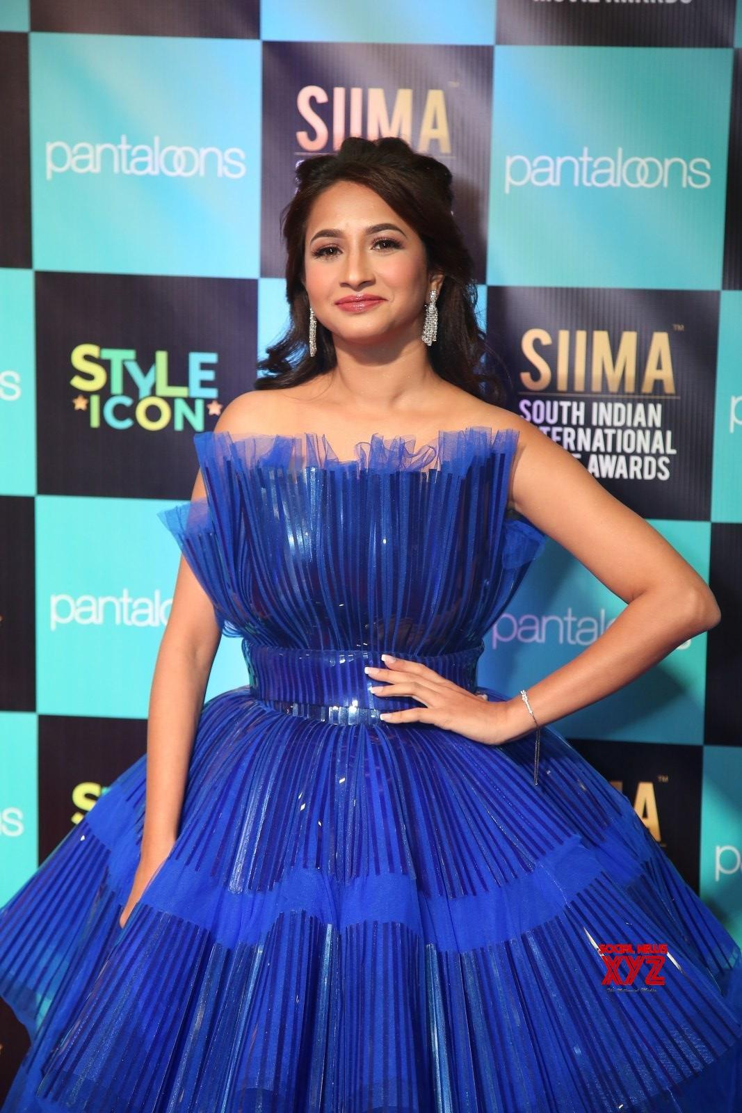 Actress Manvita Stills From SIIMA Awards 2019 Red Carpet