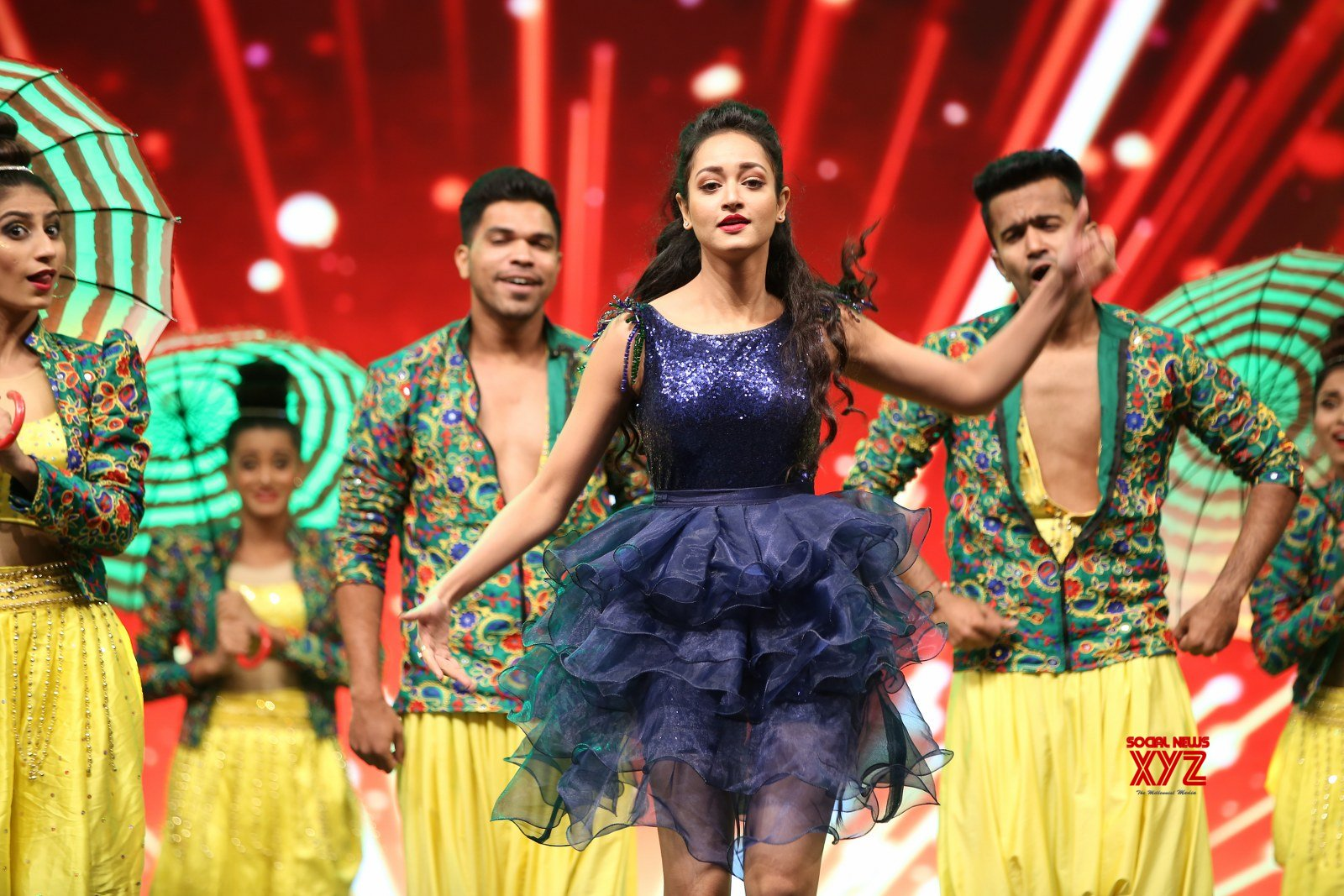 Actress Shanvi Srivastava Dance Stills From SIIMA Awards 2019
