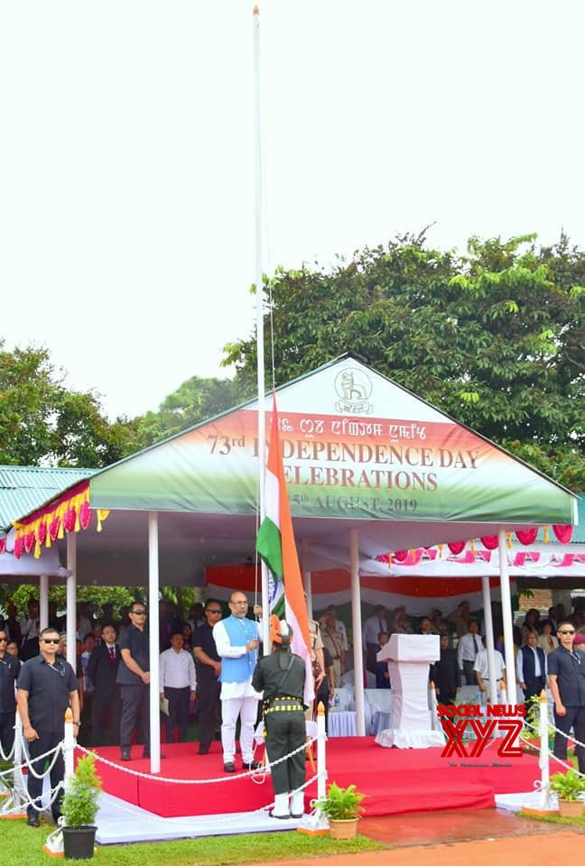Imphal: N. Biren Singh during 73rd Independence Day celebrations in Manipur #Gallery