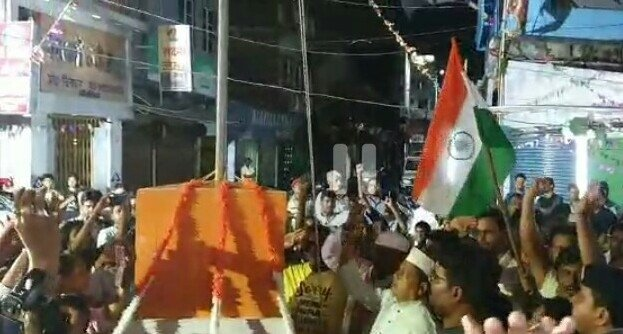 Furnea: National flag hoisted at midnight in Bihar #Gallery