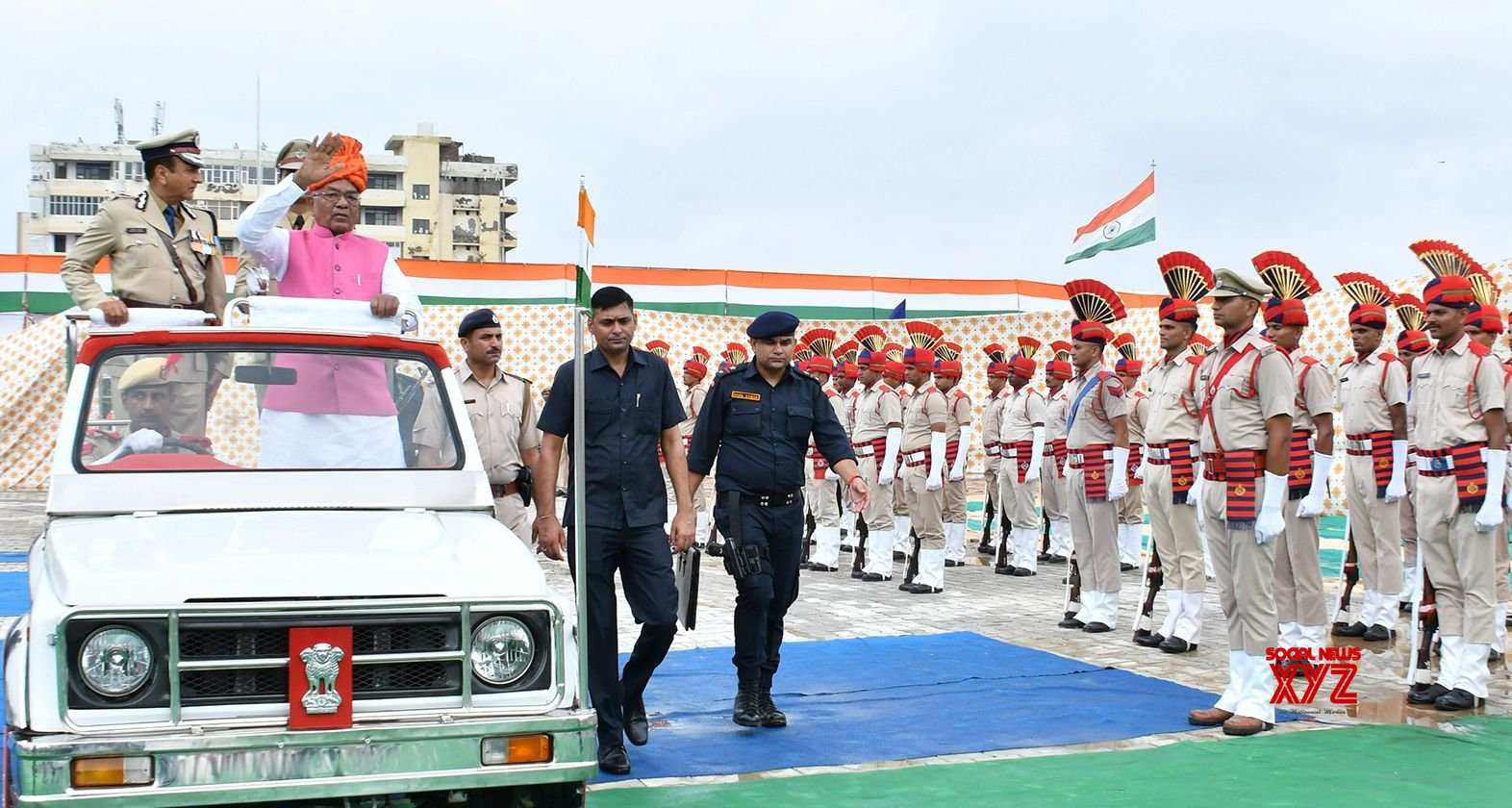 Faridabad: Haryana Governor during 73rd Independence Day celebrations #Gallery