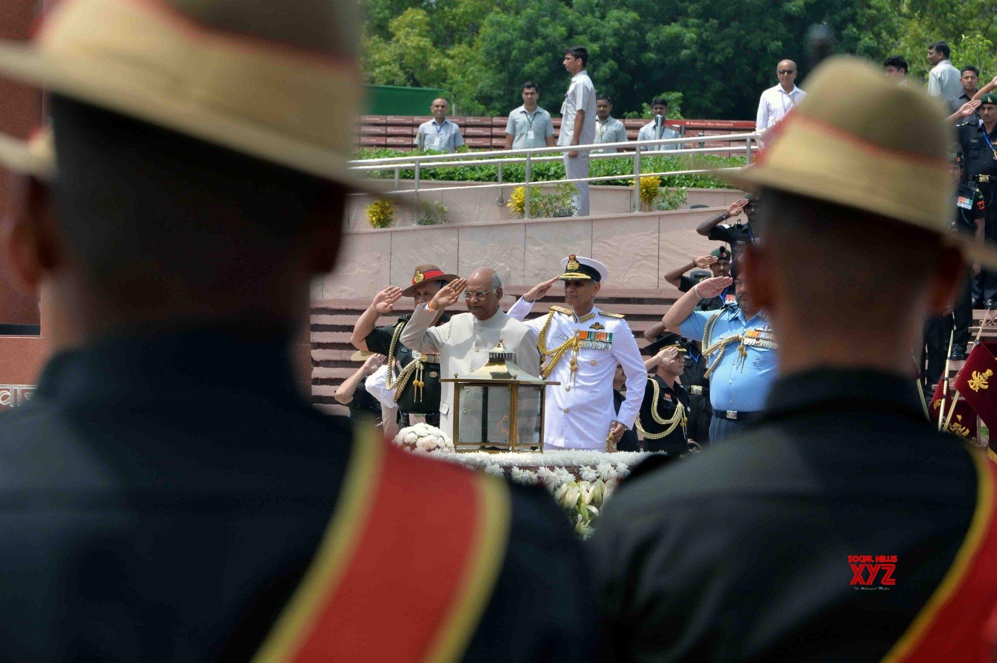 New Delhi: President Kovind pays homage at National War Memorial #Gallery