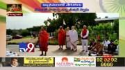 Chinna Jeeyar Swami hoists National Flag at Shamshabad - TV9 [HD] (Video)