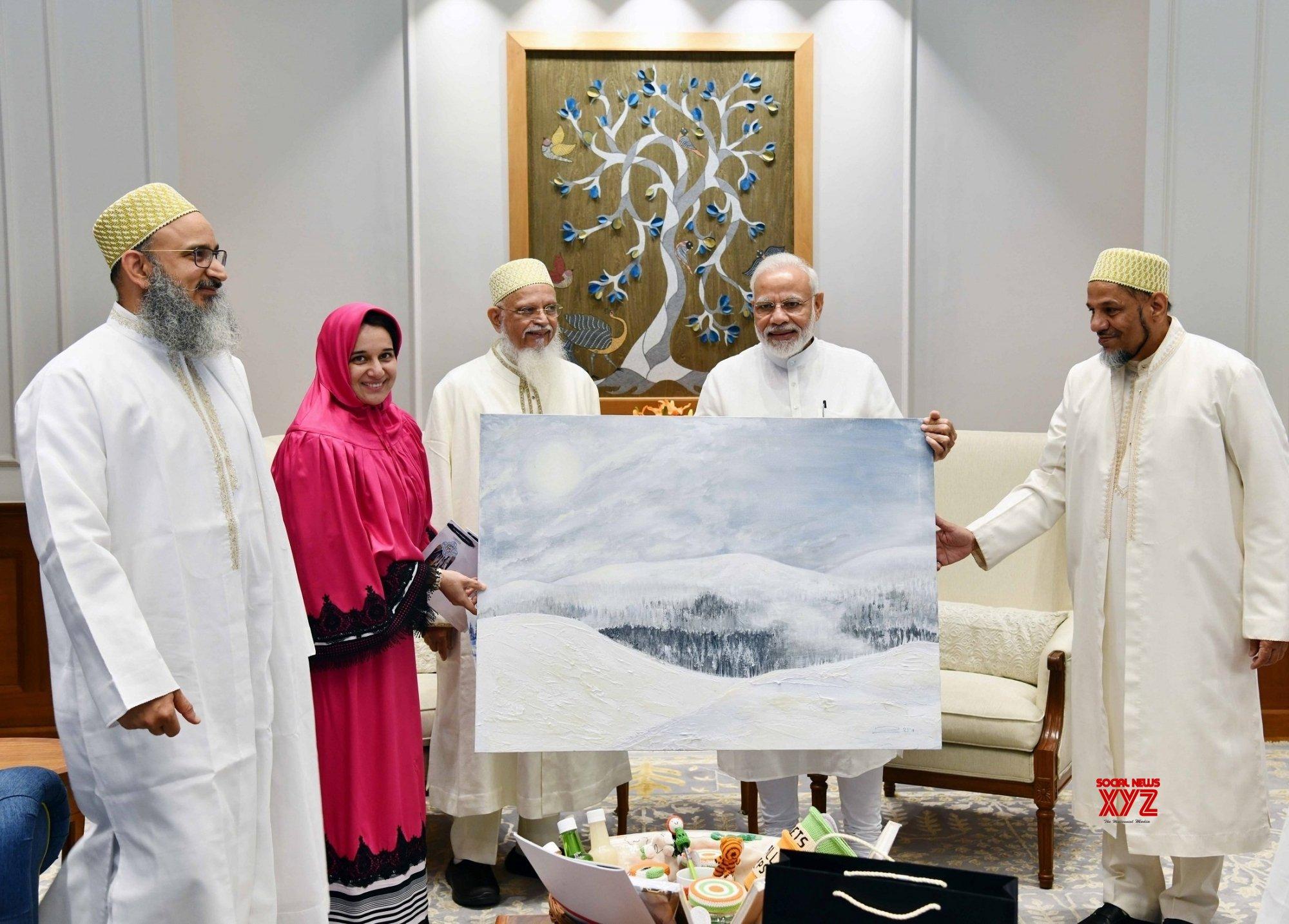 New Delhi: Dawoodi Bohra Community Head meets PM Modi #Gallery