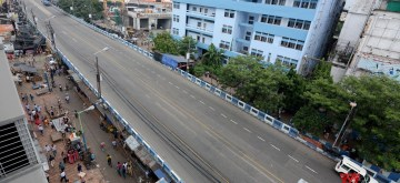 Kolkata: A view of the Sealdah flyover that has been shut down to traffic for four days to facilitate a safety audit and repairs, in Kolkata on Aug 16, 2019. (Photo: IANS)