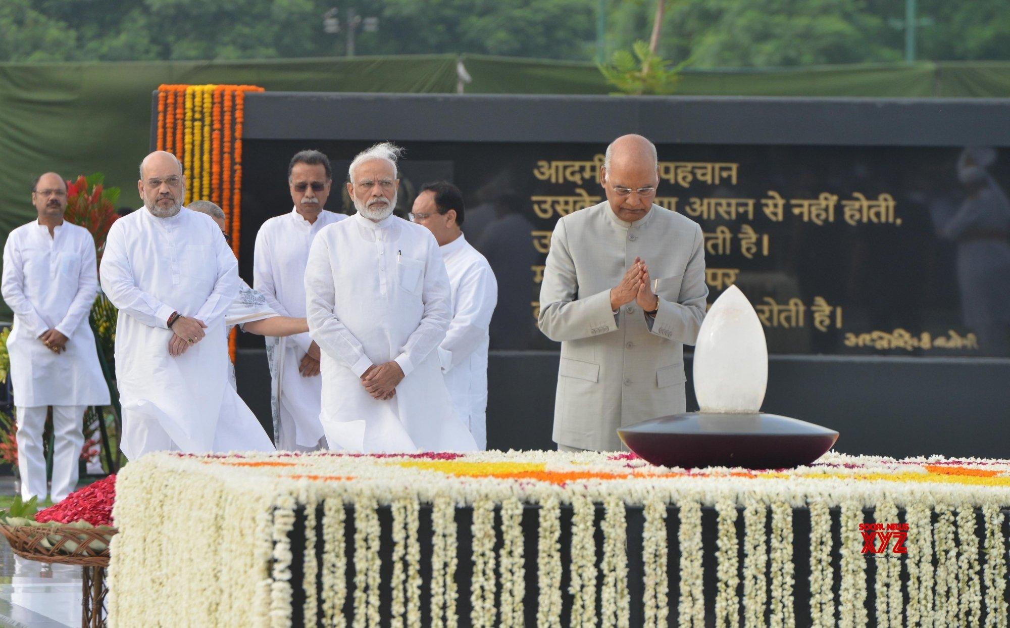 New Delhi: Atal Bihari Vajpayee's first death anniversary #Gallery