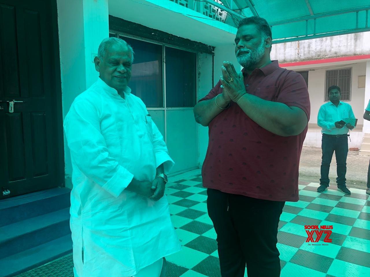 Patna: Pappu Yadav meets Khanhaiya Kumar, Jitan Ram Manjhi #Gallery