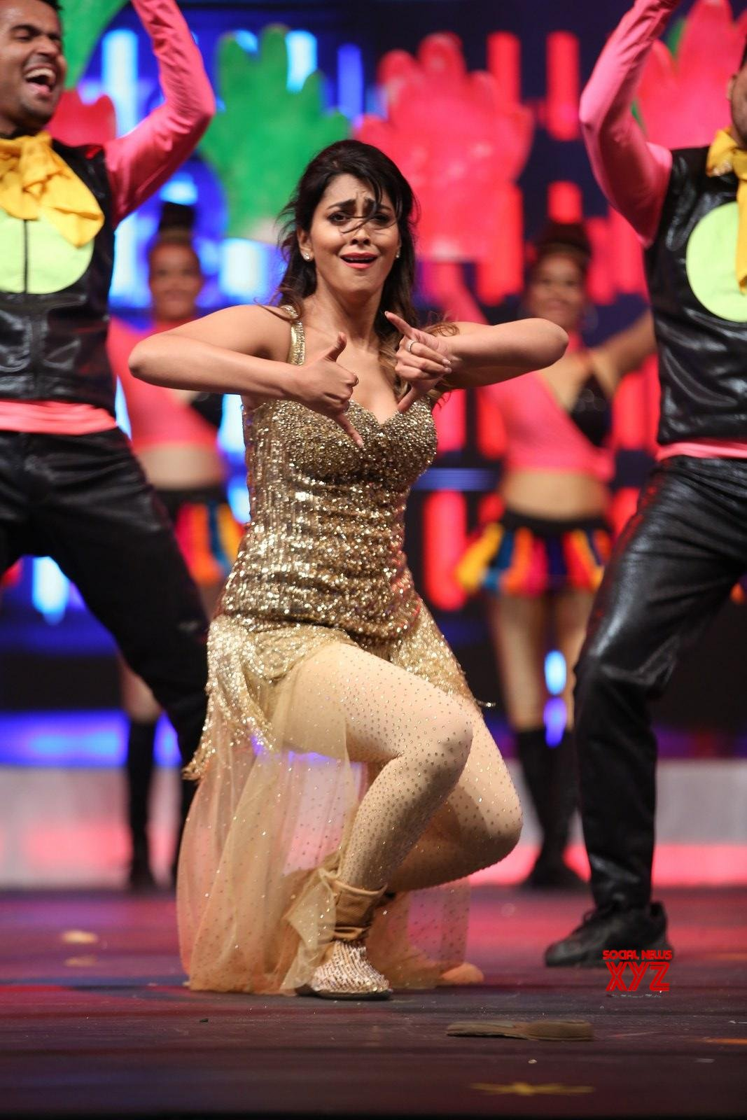 Actress Shriya Saran Dance Performance Stills From SIIMA Awards 2019