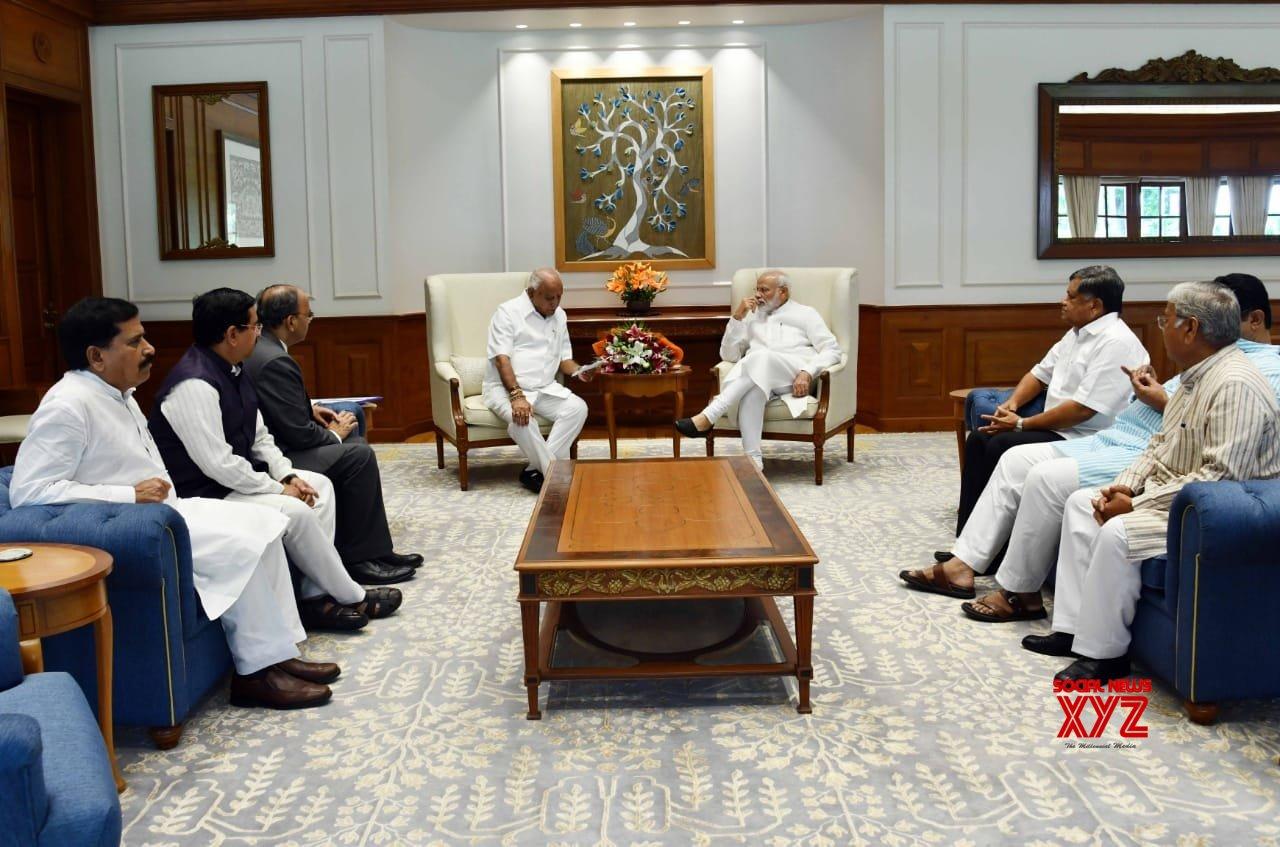 New Delhi: Karnataka floods: Yediyurappa meets PM, seeks 10,000 cr fund #Gallery