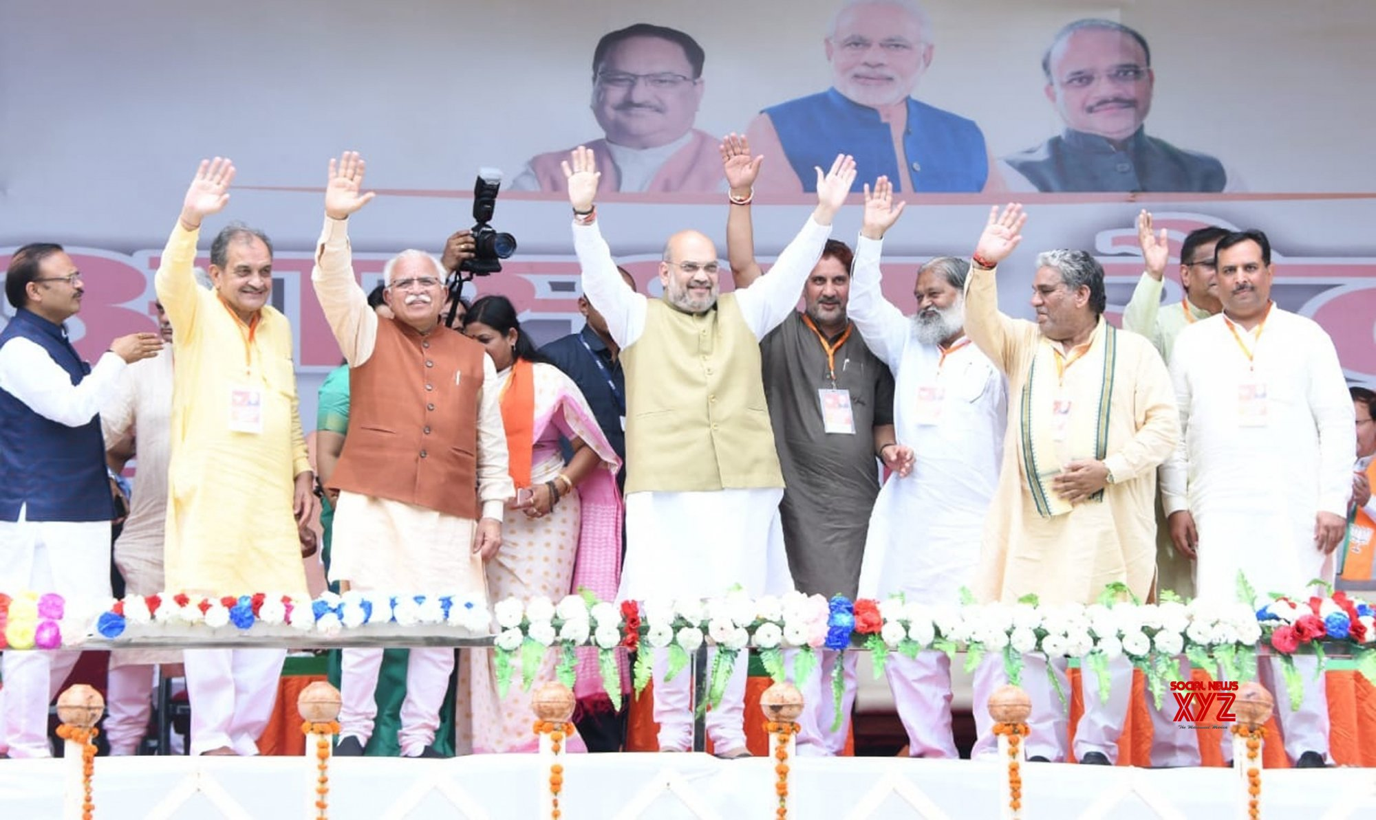 Jind: Amit Shah at Astha Rally in Haryana #Gallery