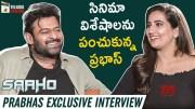Prabhas Exclusive Interview [HD] | Saaho Movie | Shraddha Kapoor | Sujeeth | (Video)
