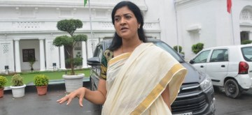 New Delhi: AAP MLA Alka Lamba at Delhi Assembly in Aug 23, 2019. (Photo: IANS)