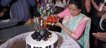 Dubai: Singer Asha Bhosle celebrates her birthday in Dubai. (Photo: IANS)