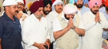 Kapurthala: Punjab Chief Minister Captain Amarinder Singh during his visit to Gurdwara Ber Sahib in Sultanpur Lodhi of Punjab's Kapurthala district on Sep 10, 2019. (Photo: IANS)