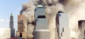 The destruction of the World Trade Centre in New York seen moments after the second Tower was brought down by terrorists using a hijacked plane on September 11, 2001. (Photo: Wally Gobetz/WikiMedia)