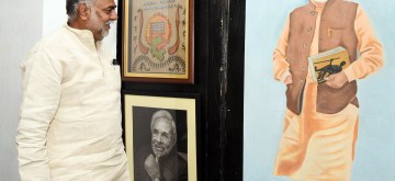 New Delhi: Union MoS Culture and Tourism (Independent Charge) Prahalad Singh Patel visits the exhibition of gifts presented to the Prime Minister Narendra Modi at National Gallery of Modern Art, in New Delhi on Sep 12, 2019. (Photo: IANS/PIB)