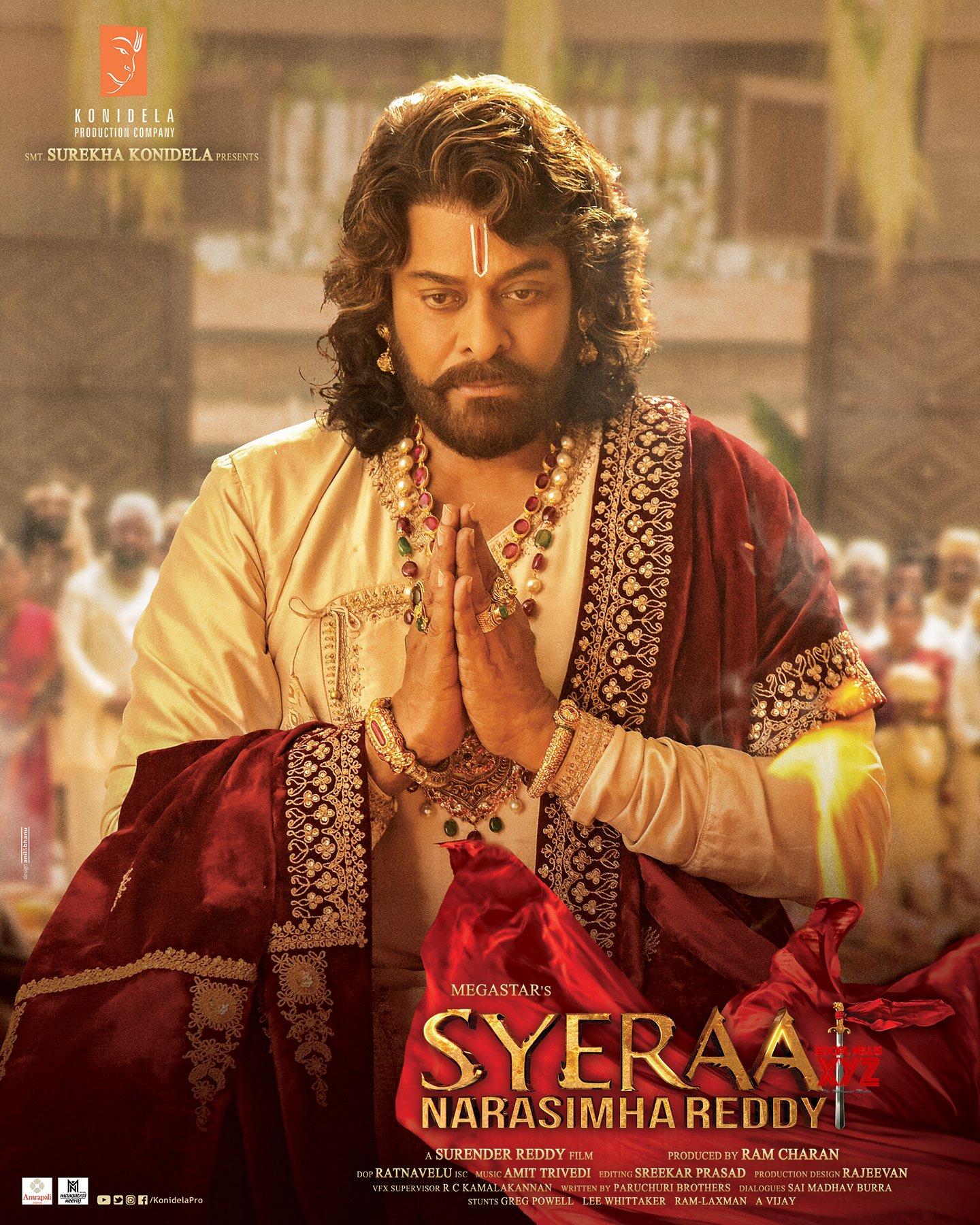 Megastar Chiranjeevi's SyeRaa New HD Posters