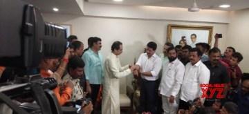 Mumbai: Former high-profile encounter specialist Pradeep Sharma joins Shiv Sena in the presence of party chief Uddhav Thackeray in Mumbai on Sep 13, 2019. (Photo: IANS)