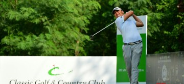 Gurugram: Indonesia's Rory Hie in action during the Classic Golf & Country Club International Championship in Gurugram on Sep 13, 2019. (Photo: IANS)