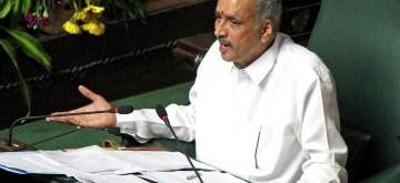 Bengaluru: Karnataka Assembly Speaker Vishweshwar Hegde Kageri addresses during the Assembly session, in Bengaluru on July 31, 2019. (Photo: IANS)