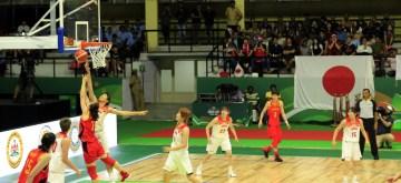 Bengaluru: Players in action during the 2019 FIBA Women's Asia Cup final match between Japan and China at Sree Kanteerava Stadium, in Bengaluru on Sep 29, 2019. (Photo: IANS)