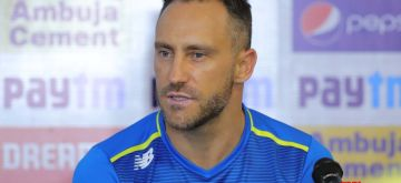 Visakhapatnam: South African captain Faf du Plessis addresses a press conference in Visakhapatnam on Oct 1, 2019. (Photo: IANS)