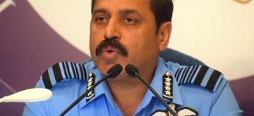 New Delhi: IAF chief R.K.S. Bhadauria addresses a press conference in New Delhi on Oct 4, 2019. (Photo: IANS)