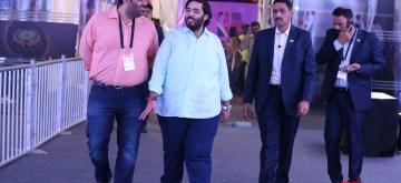 Mumbai: Industrialist Mukesh Ambani's son Anant Ambani at NSCI Worli during NBA Games in Mumbai on Oct 4, 2019. (Photo: IANS)