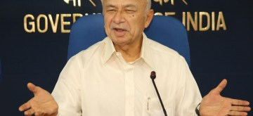 Union Home Minister Sushilkumar Shinde at a press conference in New Delhi on September, 07, 2013. (Amlan Paliwal/IANS)
