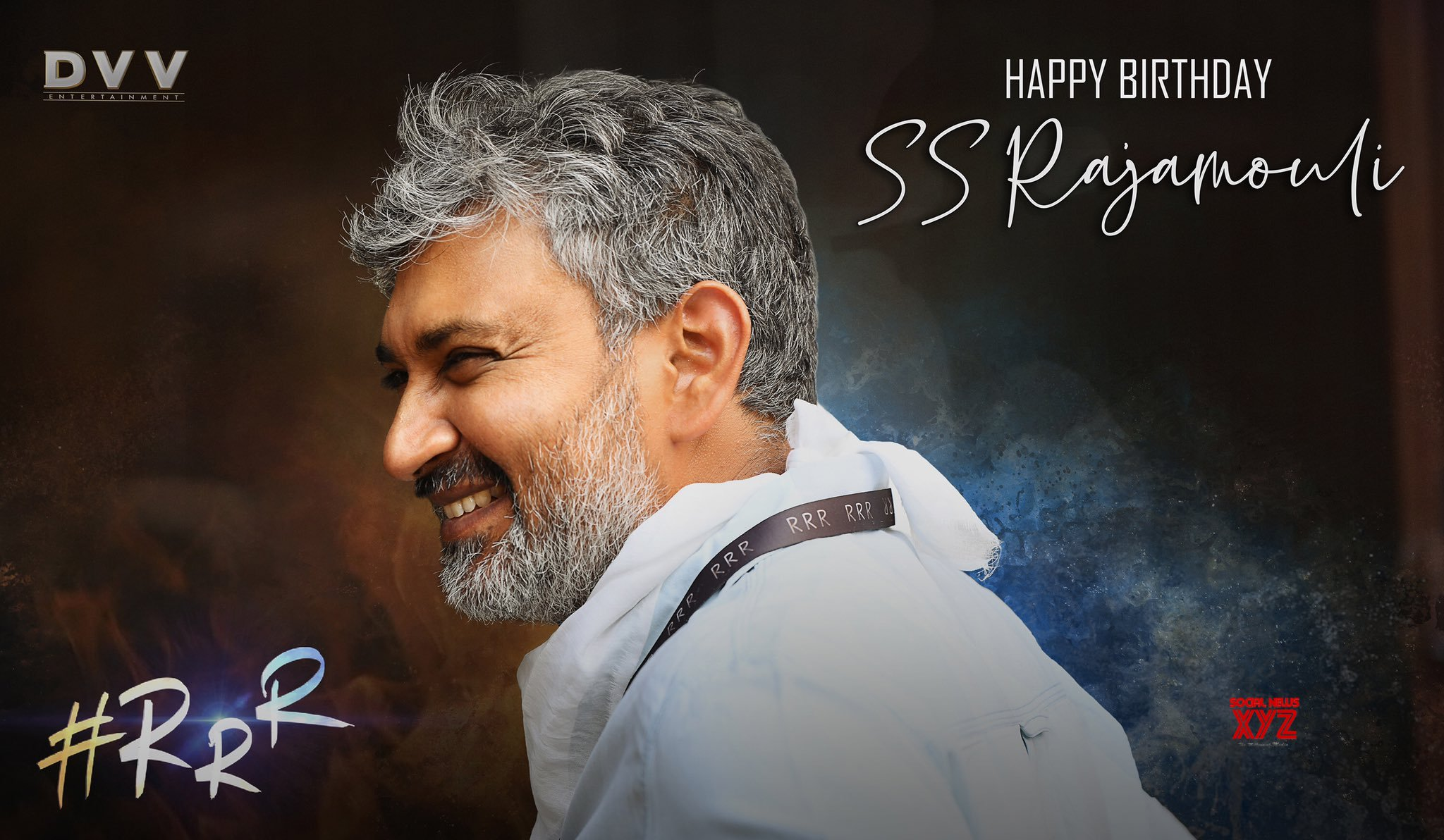 SS Rajamouli Birthday Wishes Poster From RRR Team