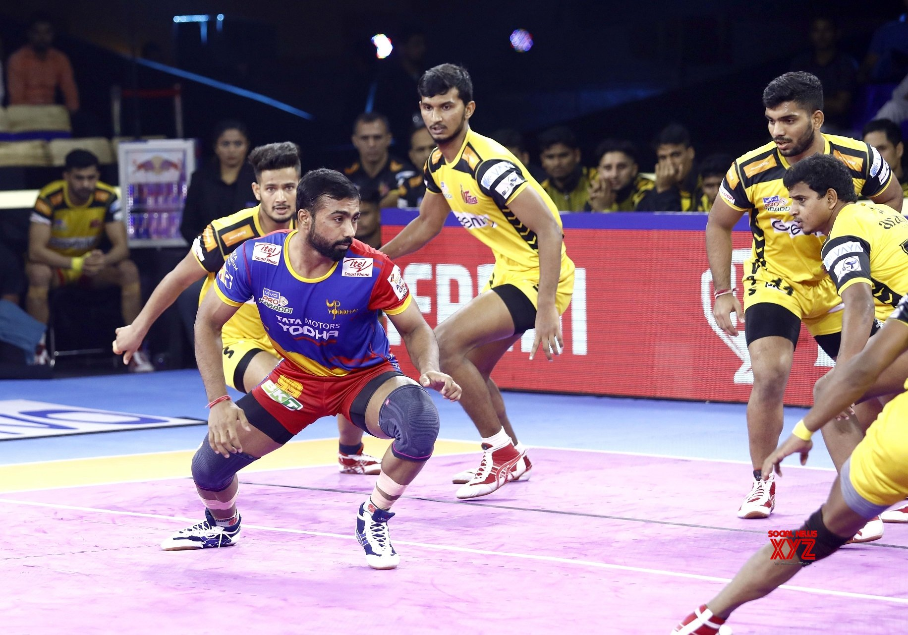 Greater Noida: Pro Kabaddi Season 7 - UP Yoddha vs Telugu Titans #Gallery